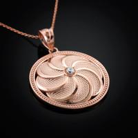 Rose Gold Armenian Eternity Pendant