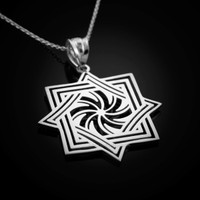 White Gold Armenian Eternity Symbol Necklace