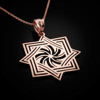 Rose Gold Armenian Eternity Symbol Pendant Necklace