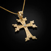 Gold Armenian Cross Charm Necklace