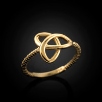 Gold Celtic Triquetra ring