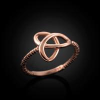 Rose Gold Celtic ring