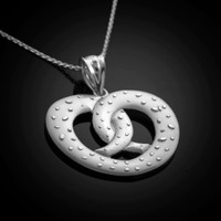 White Gold Pretzel necklace.