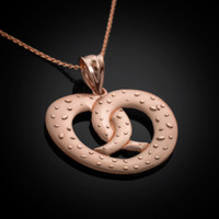 Rose gold pretzel necklace