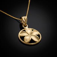 Gold Plumeria necklace