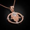 Rose Gold Hamsa Pendant