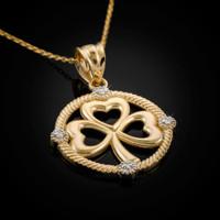 Gold Shamrock Pendant