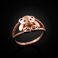 Rose Gold Teddy Bear ring
