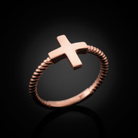 Rose Gold Greek Cross ring