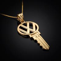 Gold VW Volkswagen Necklace