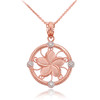 Rose Gold Plumeria Diamond Necklace
