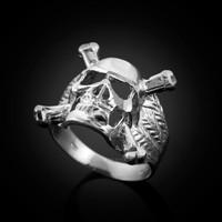 White Gold Biker Ring