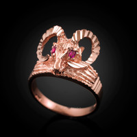 Rose Gold Ram ring
