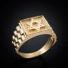 Gold Star of David Ring