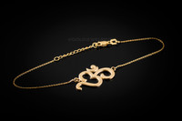 Gold Om Bracelet