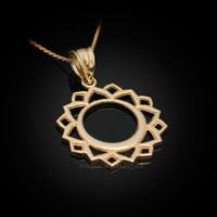 Gold Vishuddha Chakra Yoga Pendant Necklace