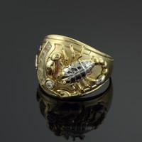 Multi-tone Gold Scorpion Men's CZ Ring
