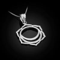 White Gold Svadhishthana Chakra Pendant Necklace