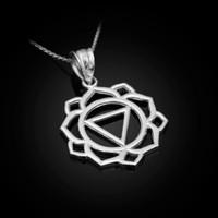 White Gold Manipura Chakra Yoga Pendant Necklace