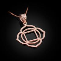 Rose Gold Muladhara Chakra Yoga Pendant Necklace