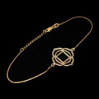 14K Gold Muladhara Chakra Womens Yoga Bracelet Bracelet
