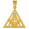 Yellow Gold Triangle Diamond Masonic Pendant