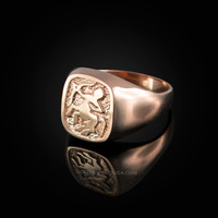 Rose Gold Sagittarius Mens Zodiac Ring