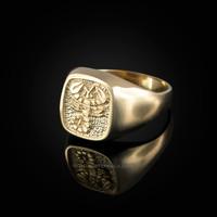 Yellow Gold Scorpio Mens Zodiac Ring