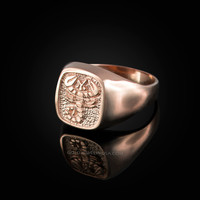 Rose Gold Scorpio Mens Zodiac Ring