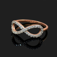 Rose Gold Diamond Infinity Ring