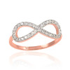 Rose Gold Diamond Infinity Ring