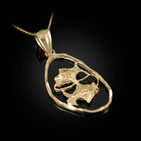 Gold Pisces Zodiac Sign DC Pendant Necklace