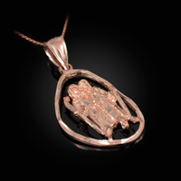 Rose Gold Gemini Zodiac Sign DC Pendant Necklace