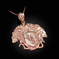 Rose Gold Medusa Charm Necklace