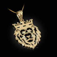 Yellow Gold Lion King DC Charm Necklace