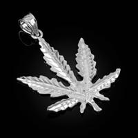 White Gold Marijuana Weed DC Pendant