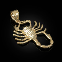 Yellow Gold Scorpion DC Pendant