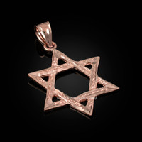 Rose Gold Jewish Star of David DC Pendant