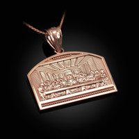 Rose Gold Last Supper Pendant Necklace