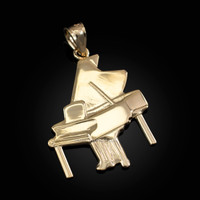 Yellow Gold Grand Piano Pendant