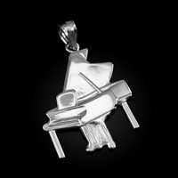 White Gold Grand Piano Pendant