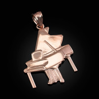Rose Gold Grand Piano Pendant