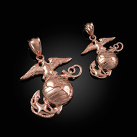 Rose Gold US Marine Corps USMC Pendant (S/L)
