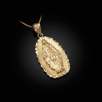 Yellow Gold Lady Guadalupe DC Pendant Necklace