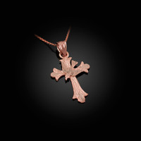 Rose Gold Holy Spirit Dove Cross DC Charm Necklace