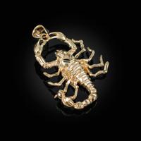 Yellow Gold Mens Scorpion DC Pendant