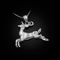 White Gold DC Deer Pendant Necklace