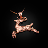 Rose Gold DC Deer Pendant Necklace