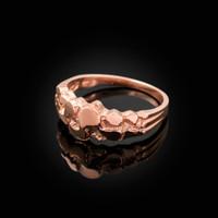 Rose Gold Nugget Wedding Band Ring