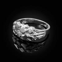 White Gold Elegant Nugget Ring